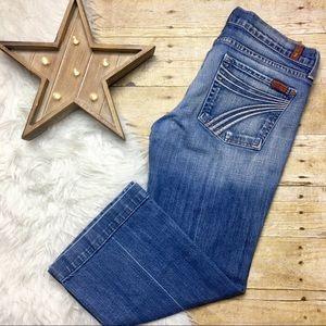 7 Fo All Mankind Medium Wash Cropped DOJO Jean